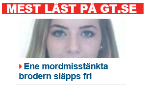 The most read news story in GT, Sweden.