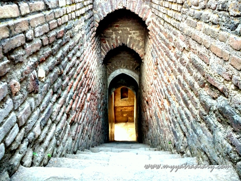 A passage in Shaniwar wada fort, Pune