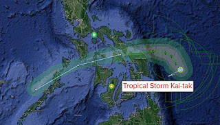 Three dead, thousands evacuated as Tropical Storm hits the Philippines