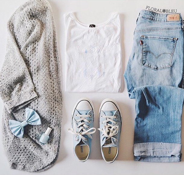 Converse jeans outfits ideas