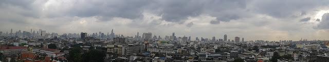 Bangkok desde la terraza del Golden Mount