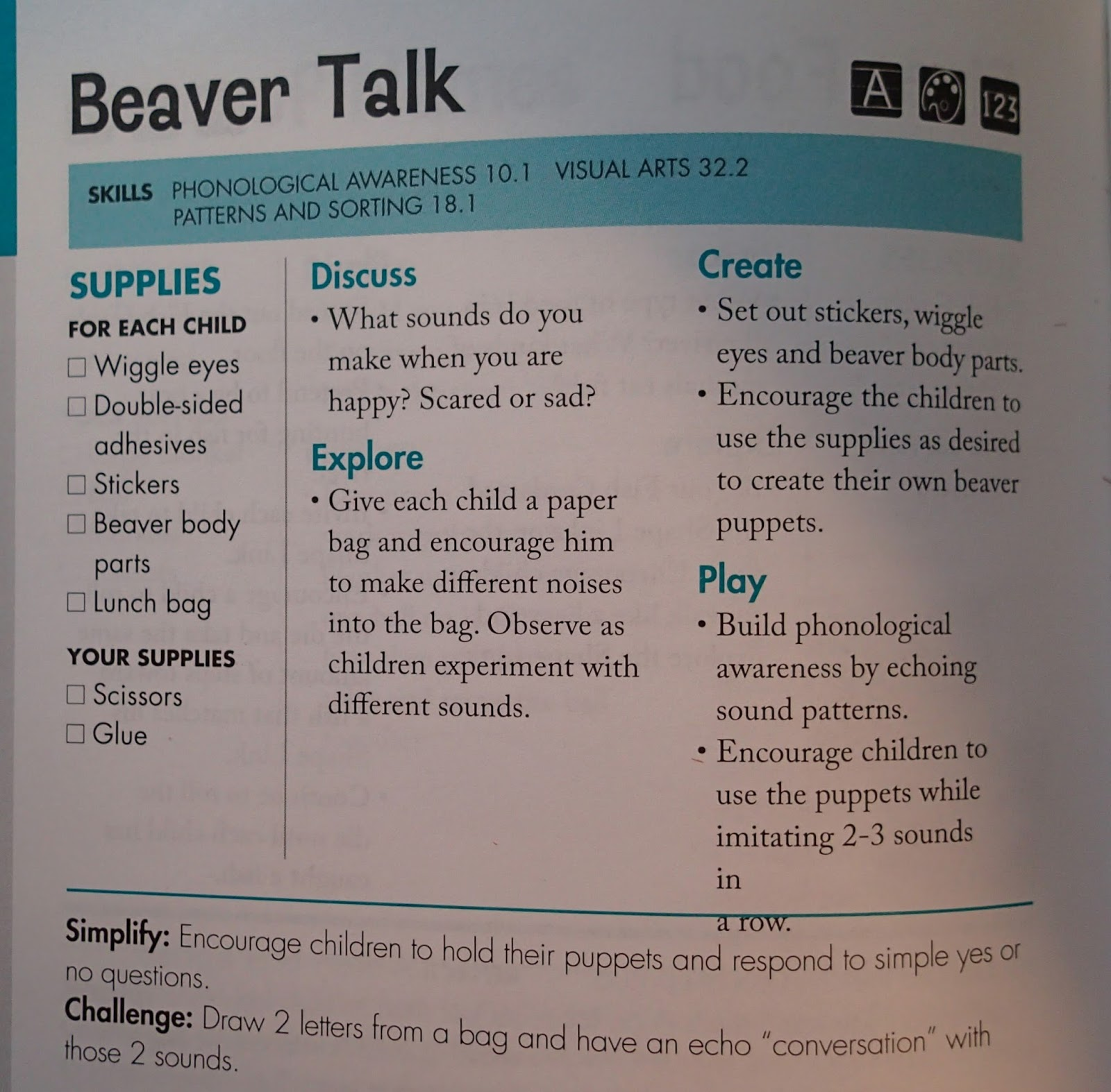1 Day at Home: Beavers