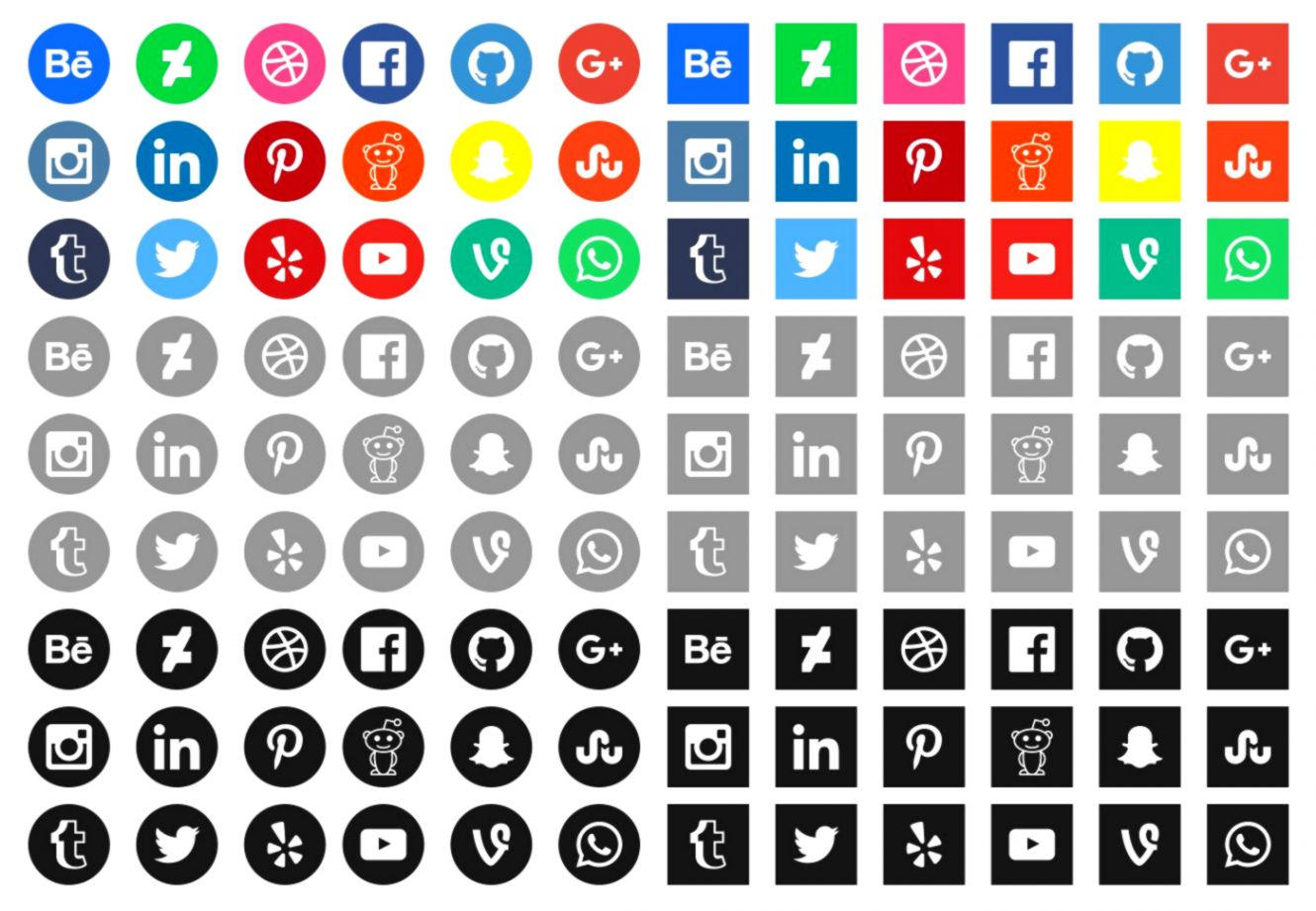 Social Media All Icons Hd