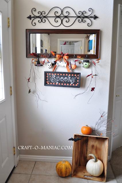 Halloween Decor Mirror Entry Craft O Maniac