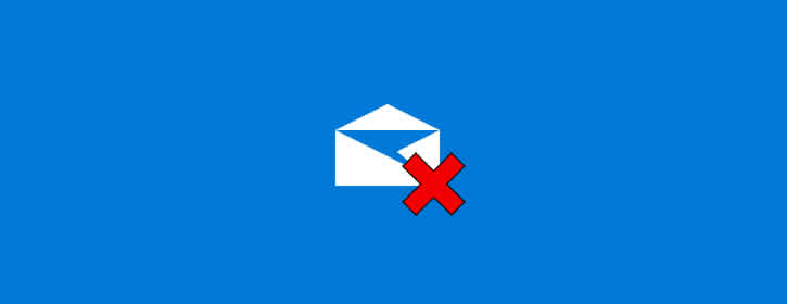 Apagando conta no aplicativo Email - Windows 10