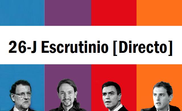 Elecciones 26J: Resultados y escrutinio en Directo