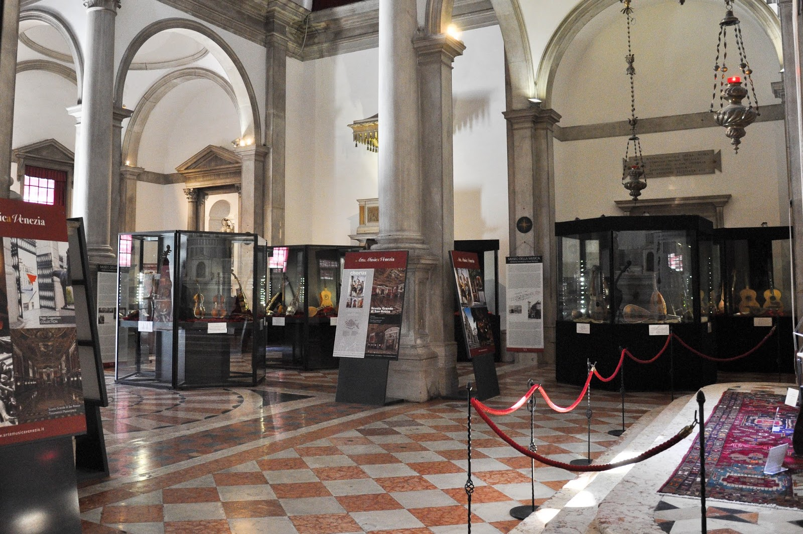 Inside the Museum of the Music, Venice, Italy