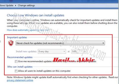 bahkan bencana tersebut sangat mengganggu kinerja  Cara Menonaktifkan Windows Auto Update Windows 7