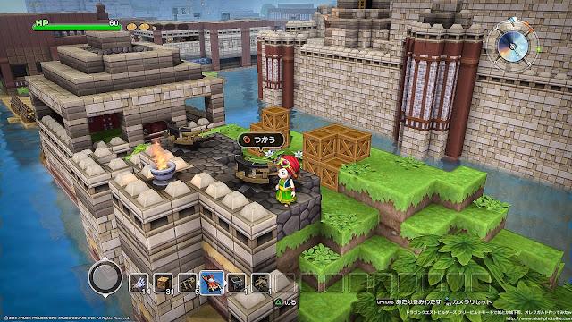 dragonquest builders 旅の扉の祠の防壁