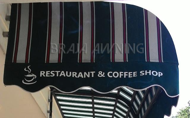 Kanopi kain sunbrella untuk warung kopi
