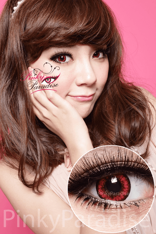 Vassen Dolly Plus Red Circle Lenses (Colored Contacts)