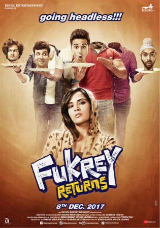 Fukrey Returns 2017 Pre DVDRip 400Mb Full Hindi Movie Download 480p Watch Online Free bolly4u
