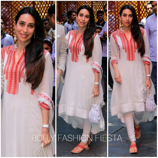 @therealkarismakapoor in @ampmfashion by ankur and priyanka modi at shashi kapoors dada sahe bp halk e , award felicitation ceremony. styled by @eshaamiin.   karishma kapoor , am pm fashion , bollywood , style , fashion , glam , desi , elegant , love , bolly fashion fiesta ,, Sisters Kareena Kapoor Karishma Kapoor Latest Hot Pics