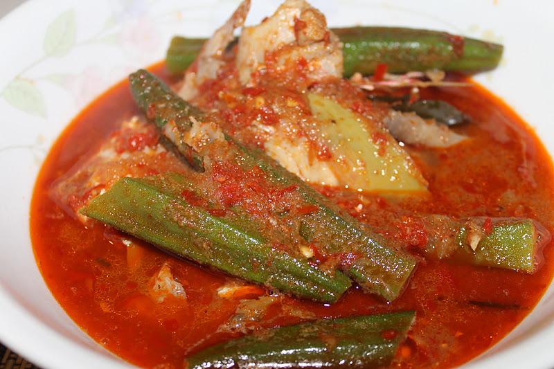 Masak Asam Pedas Kepala Ikan Merah - Azie Kitchen