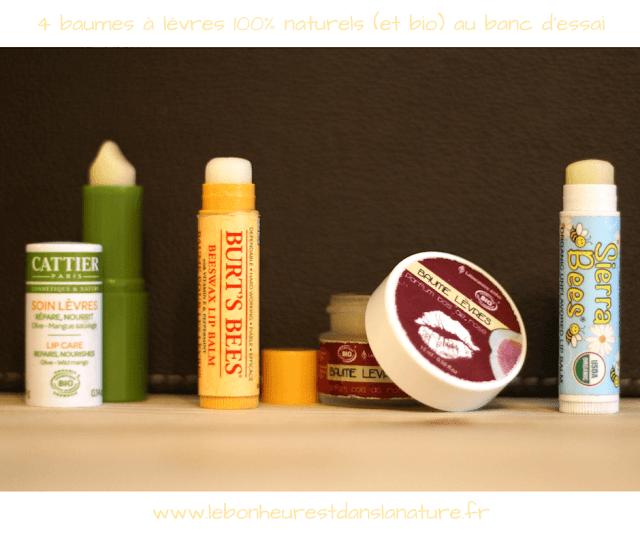 Test revue baumes à lèvres bio naturels