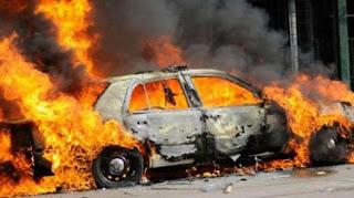 Ηλείος οδηγός που τυλίχθηκε στις φλόγες στα Μέγαρα