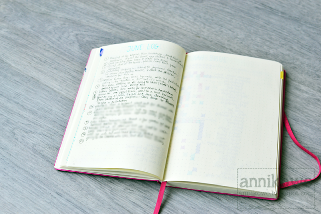 bullet journal daily log Annikowo