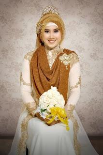 Baju kebaya pengantin muslim modern modis