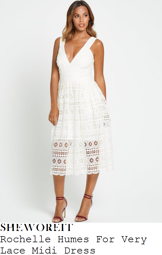 rochelle-humes-rochelle-humes-for-very-cream-white-plunge-front-sheer-lace-midi-dress