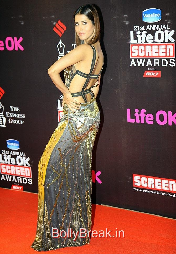 Manasvi Mamgai, Life Ok Screen awards 2015 Red Carpet Hot Pics
