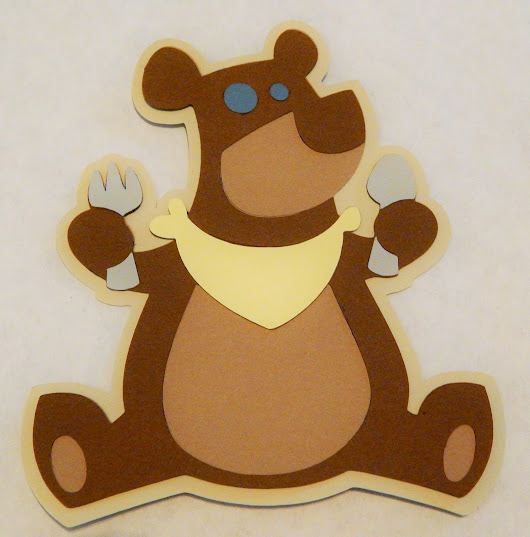 Hungry Bear Die Cut from Campin' Critters Cricut Cartridge