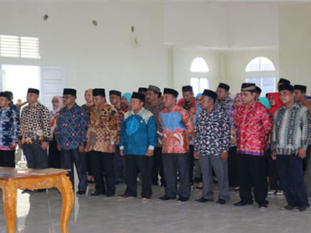 Hendrata Thes Lantik 3 Pejabat Pimpinan Tinggi Pratama di Pemkab Kepsul