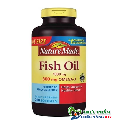 Viên Uống Dầu Cá Omega 3 Nature Made Fish Oil 1200mg giá bao nhiêu tiền