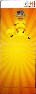 Etiqueta Tic Tac para imprimir gratis de Pikachu.