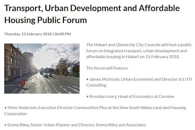 https://www.hobartcity.com.au/Community/Events-and-activities/Upcoming-events/Integrated-Transport-Urban-Development-and-Affordable-Housing-Public-Forum