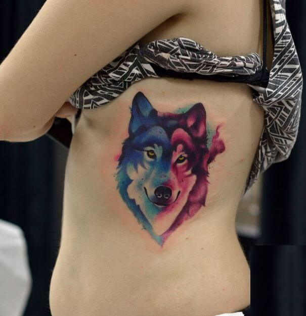 girl Wolf Tattoos