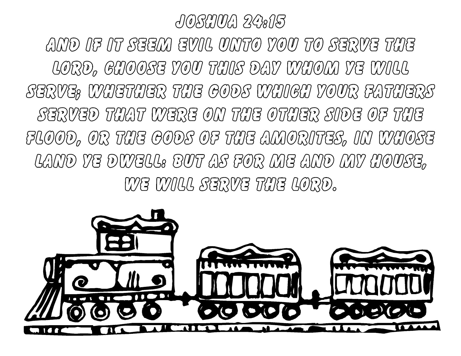 joshua 24 coloring pages - photo#6