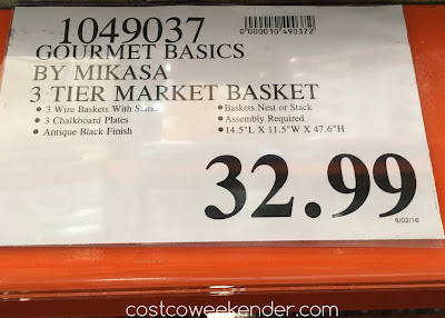 Deal for the Gourmet Basics by Mikasa 3 Tier Market Basket at Costco