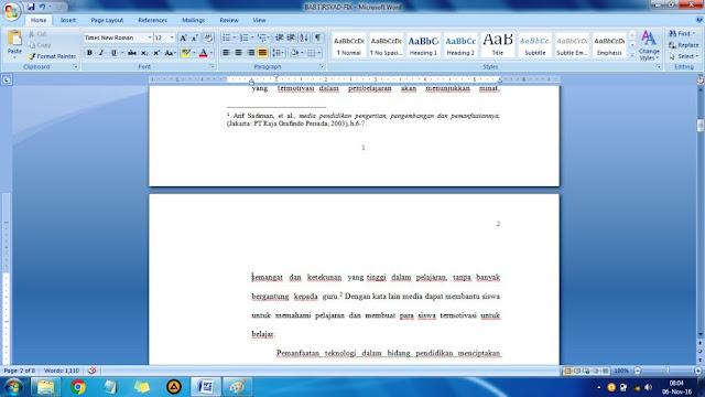 cara membuat halaman berbeda di word 2007 untuk skripsi