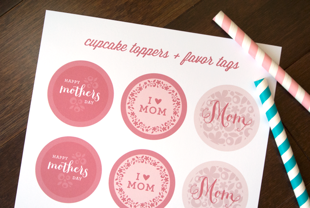 Mother S Day Tags: SquareView Studios: MOTHER'S DAY CUPCAKE TOPPERS & GIFT TAGS