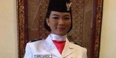 Sheren Valentia - Keturunan Tionghoa dan Beragama Buddha Menjadi Anggota Paskibraka Kota Palembang - Sumsel