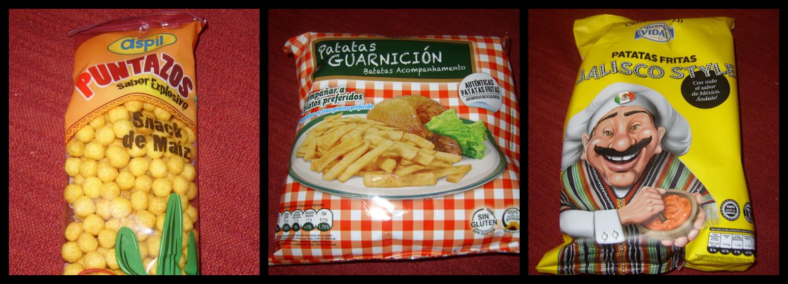 Puntazos Aspil, Patatas de Guarnición y Patatas Fritas sabor Jalisco