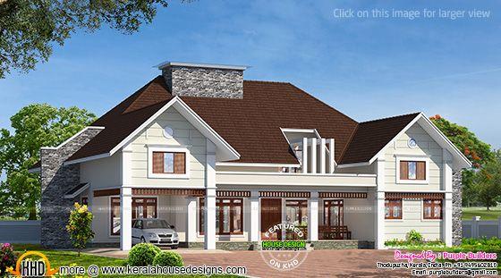 Bungalow house in Kerala