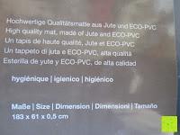 Material: Jute-Yogamatte »Sampati Jute« / High Quality Matte aus hochwertigen Jutefasern und ECO-PVC. Atmungsaktiv, schadstofffrei und sehr robust. Ideal für häufige Yogaübungen. Maße: 183 x 61 x 0,5cm, in verschiedenen Farben erhältlich