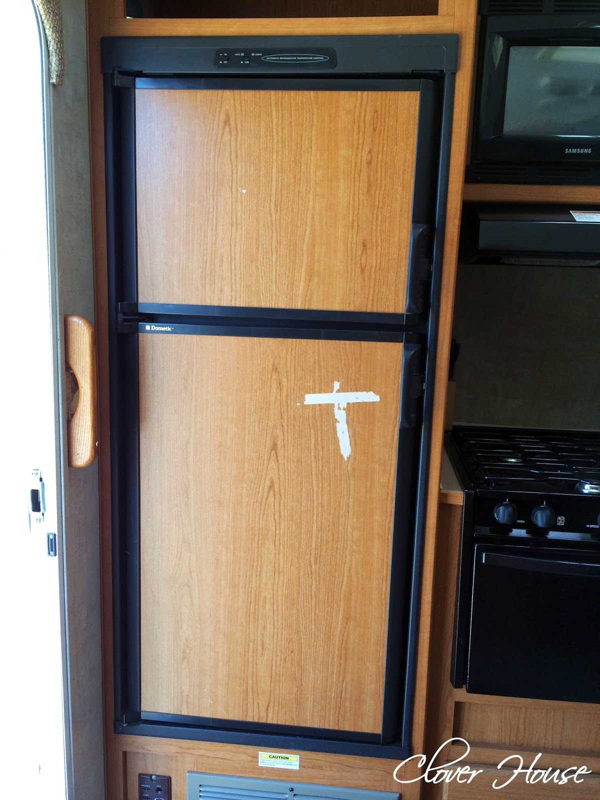 Clover House Rv Fridge Makeover With Chalk Paint