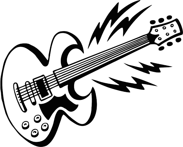 Gambar Mewarnai Gitar - 9