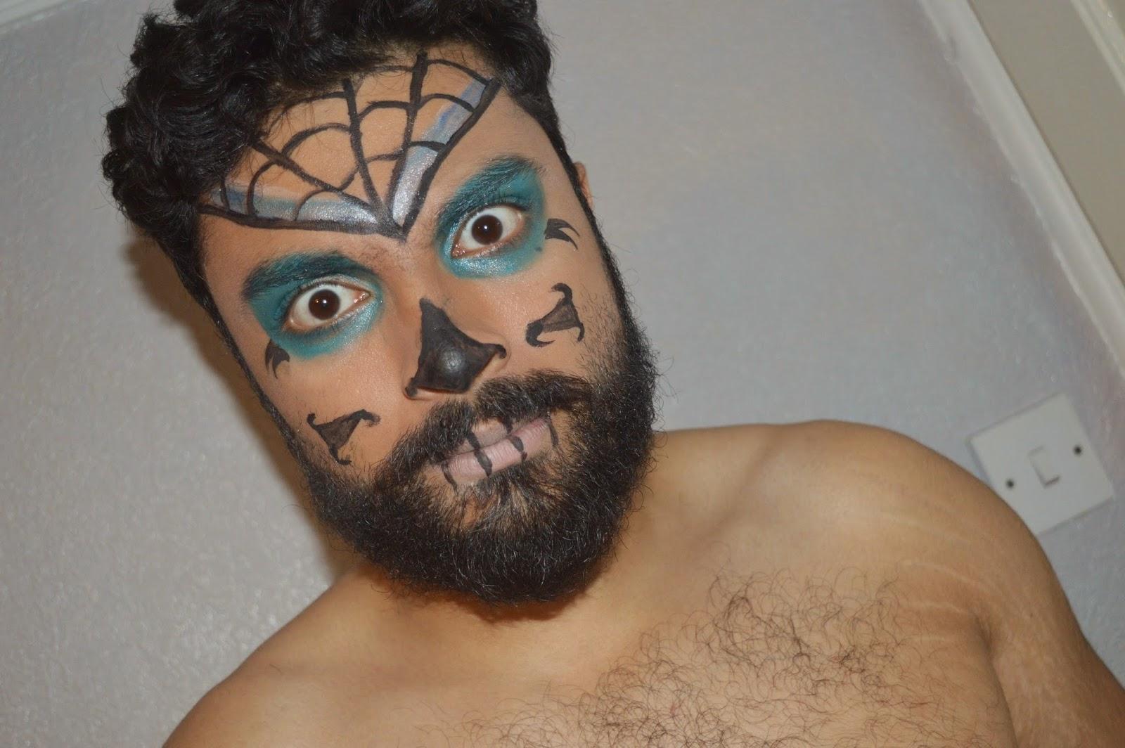 sugar skull makeup man