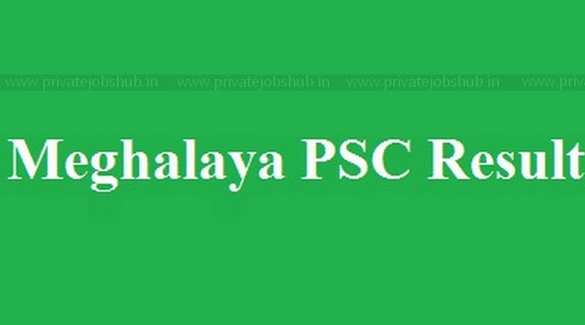 Meghalaya PSC Result