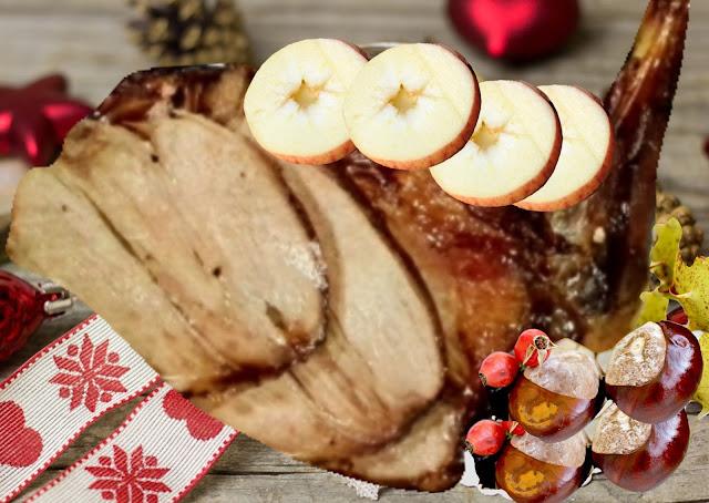 cuissot de marcassin rôti au four, pommes marrons (sans gluten)