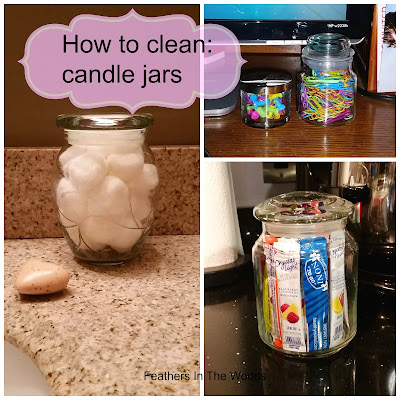 How to clean candle jars