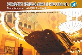 File Pendidikan RPP Al Quran Hadis Kelas XI K-13 (lengkap dan Gratis)