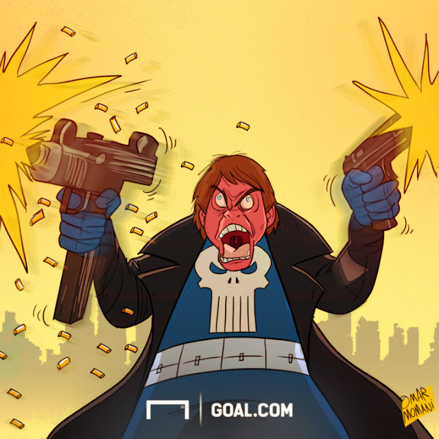 Conte the Punisher cartoon