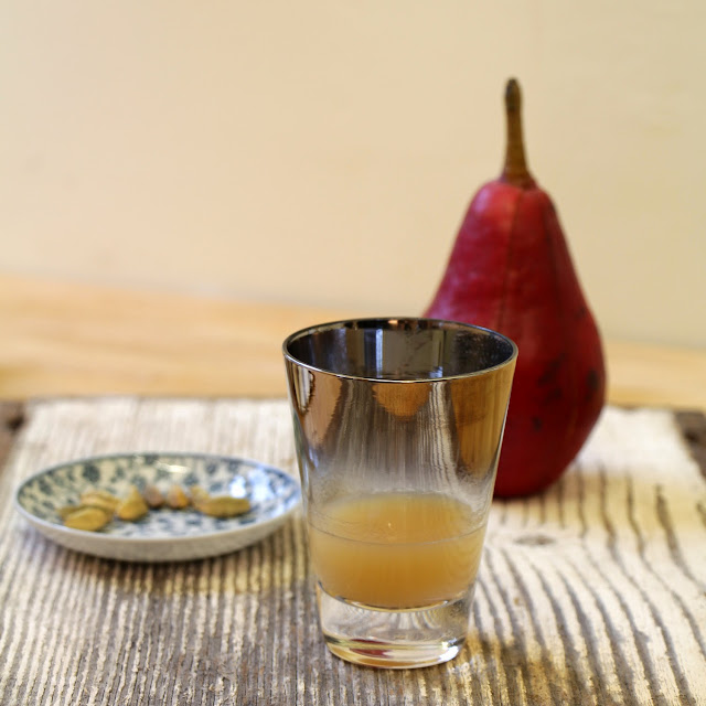 Cardamom Infused Brandy and Pear Nectar