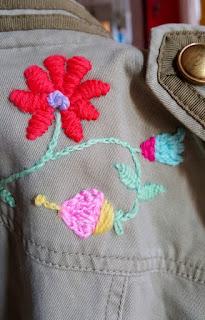 Tutorial bordado mexicano con lana en ropa