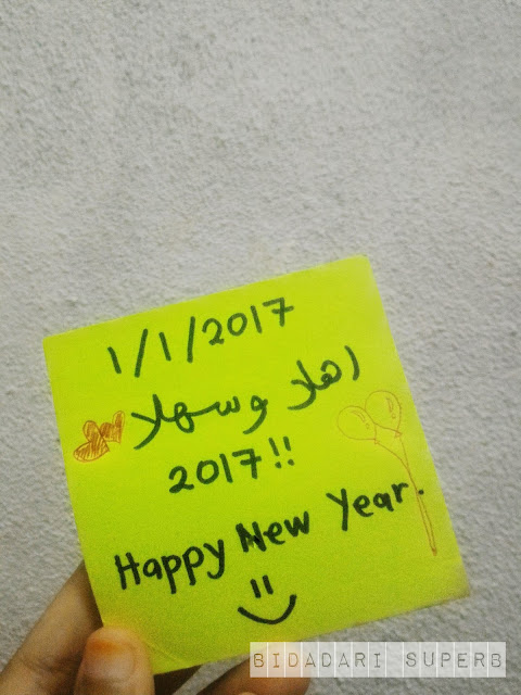 new year sticky note