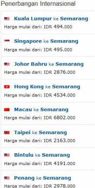 Tiket Pesawat Murah Semarang Srg Wisesatravel Com